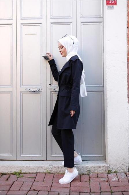Ceketli Tesettür Takım - Siyah